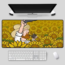 XGZ Large-sized anime mouse pad, exquisite Van Gogh spoof comic series, table e-sports, essential durable keyboard pad