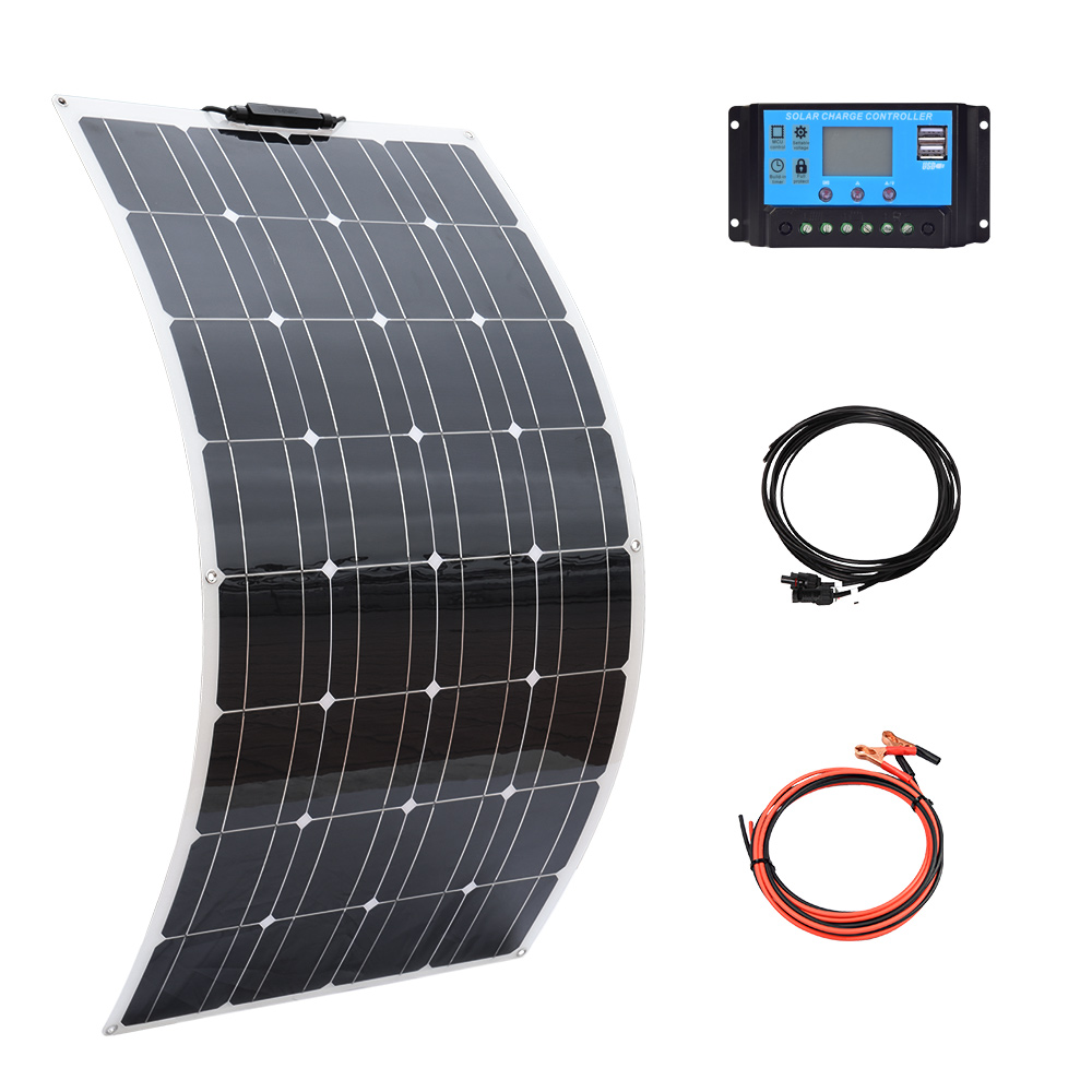 BOGUANG 100w 200w 300 w 400w 500w 600w solar panel kit complete Photovoltaic panels cell for 12V 24v battery home car Boat yacht(China)