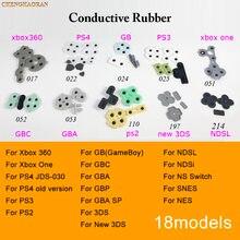 18 modelos 1 Juego de piezas para reparar juego goma conductora almohadilla de silicona para GameBoy GB GBA SP GBC NDSL nuevo PS4 3DS PS3 Xbox 360 One NDSi