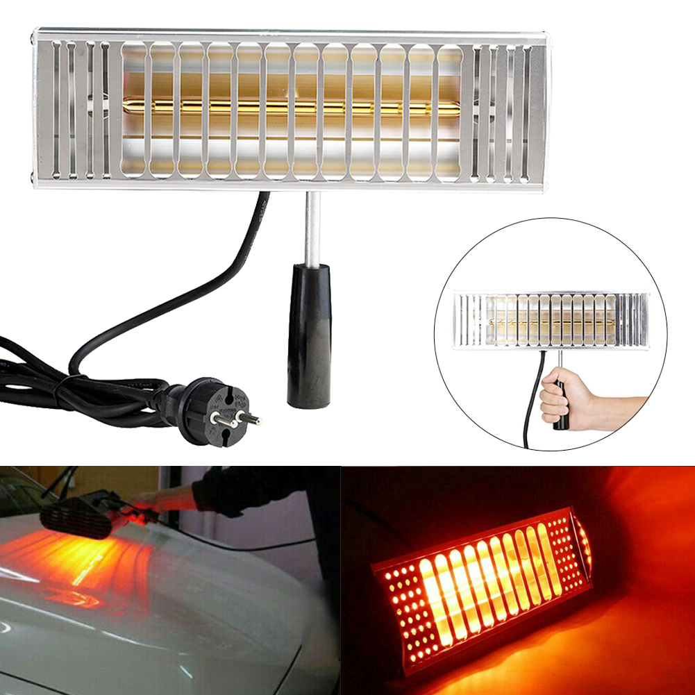 1000W Infrared Heating Spray Auto Portable Exhaust Car Body Solar Film Light Wave Paint Curing Lamp Filter Drying Handheld