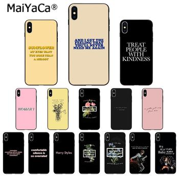 MaiYaCa Harry Styles lyrics TPU Soft Silicone Phone Case Cover for iPhone 11 pro XS MAX 8 7 6 6S Plus X 5 5S SE XR case image