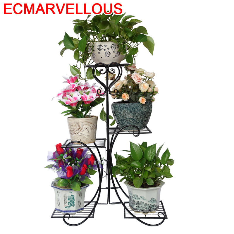 Scaffali In Metallo A Ripiani Decoration Terrasse Support Pour Plante Stand Balkon Flower Shelf Balcony Plant Rack