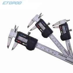 Stainless Steel Digital Caliper mini Pocket 50mm 70mm 100mm Thickness Gauge Electronic Vernier Caliper Slider Caliper Gem Tool