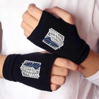 Anime Angriff auf Titan Madara katze Finger Baumwolle Stricken Handgelenk Handschuhe Handschuh Liebhaber Anime Zubehör Cosplay Finger handschuhe