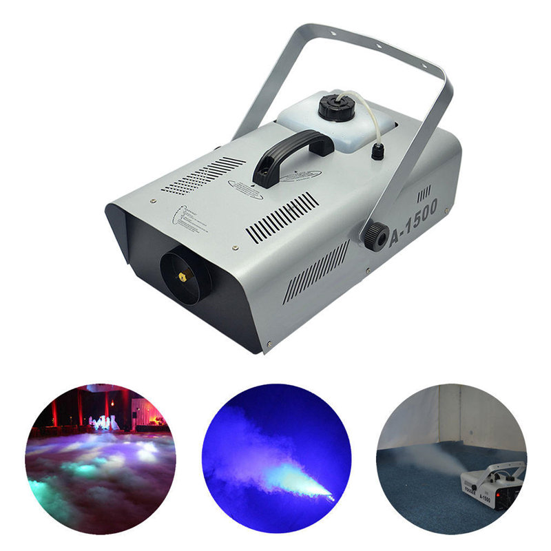 AUCD 220V 110V 1500W Fog Thermostatic Smoke Machine Remote Fogging Machines For Stage Light Home Party Wedding A1500