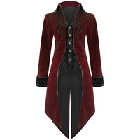 Nice Hot Men Vintage Luxury Steampunk Coats Retro Mens Gothic Punk Style Costume For Party Men Outwear Tuxedo Coats