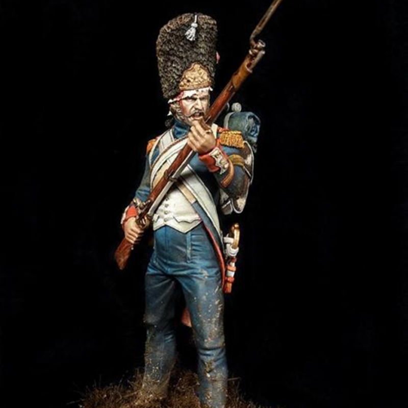 75mm <font><b>1</b></font>/<font><b>24</b></font> <font><b>Resin</b></font> <font><b>figures</b></font> soldiers kits Napoleonic Wars warriors unpainted and unassembled G331dd image