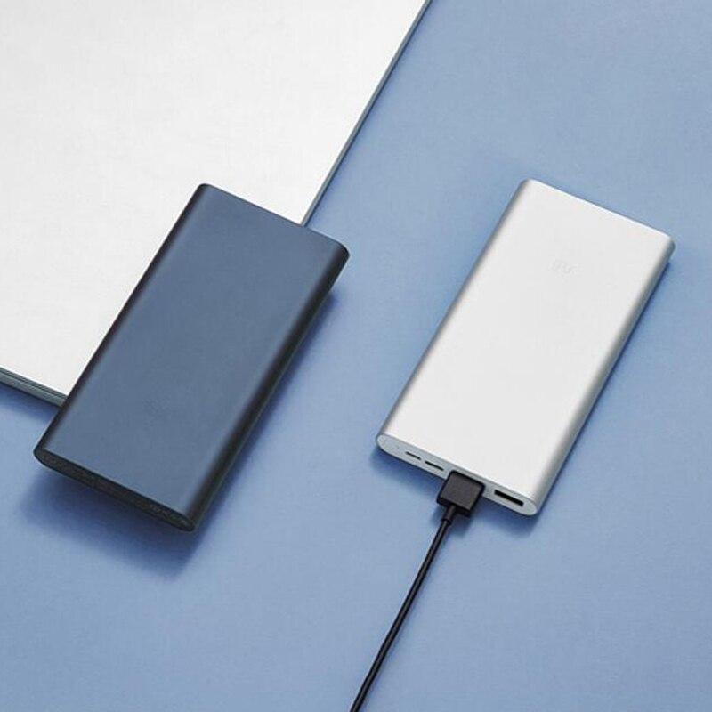 Image 5 - Xiaomi Original Mi Power Bank 3  18W 10000mAh Quick Charge Dual USB Aluminium Powerbank Fast Charger Portable External BatteryPower Bank   -
