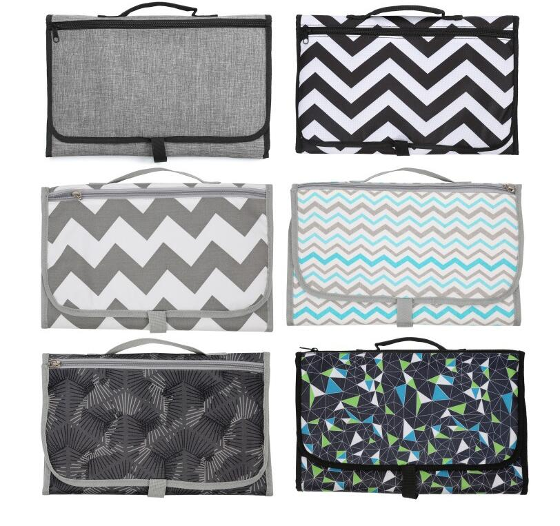 3-in-1 Multifunctional Travel Outdoor Portable Infant Baby Foldable Urine Mat Waterproof Changing Cover Pad Nappy Bag Diaper
