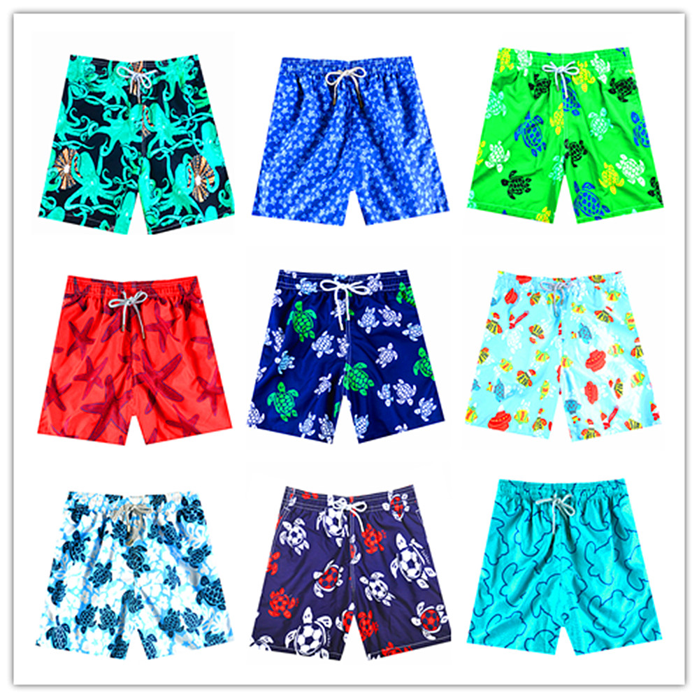 Free Shipping 2020 Brand Brevile Pullquin Beach Board Shorts Men Turtles Swimwear Starfish Octopus Male Hawaiian Short Quick Dry