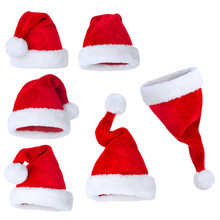 6pcs New years Cap Christmas Party Santa Hats Red Cap Christmas Hat For Santa Claus Costume Decoration for Kid's adult