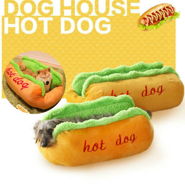 Funny Hot Dog Bed Winter Warm Pet House Creative Fashion Sofa Cushion Supplies Puppy Cat Soft Sleeping Mat Cozy Dogs Nest Kennel 1