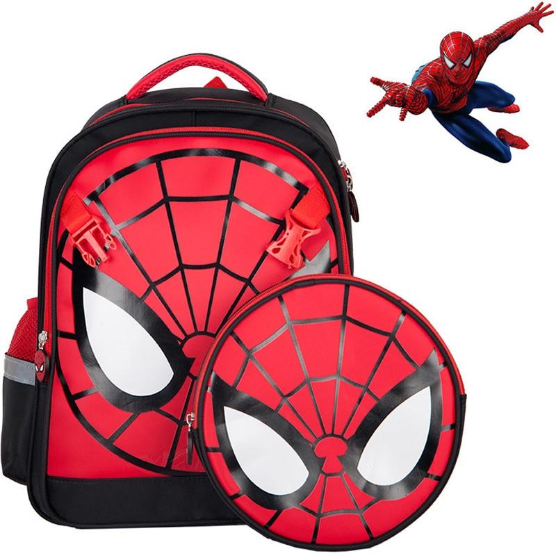 One Pack Of Dual-use Children's Schoolbag Spiderman Cute Cartoon Schoolbag Nylon Waterproof Travel Bag
