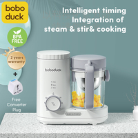 Ready Stock Boboduck Baby Food Processor Chopper Original Mixer Steamer Grinder Blender Mixer Food Heating F9005