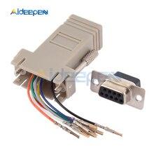 1 шт. DB9 RS232 Male/Female to RJ45 Male/Female разъем адаптера COM порт в LAN Ethernet порт конвертер