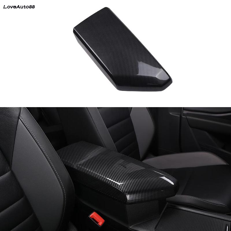 ABS Black Interior Central Storage Box Trim For Volkswagen VW Tiguan 2017 2018