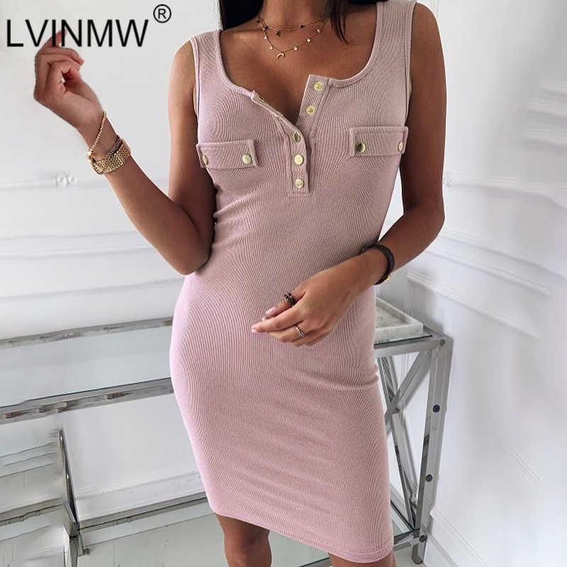 LVINMW сексуальное трикотажное розовое платье до колена с пуговицами пэчворк u