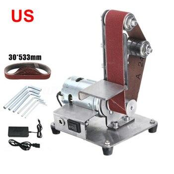 Electric Belt Sander Grinder Machine 90° Foldable DIY Polishing Grinding Tool