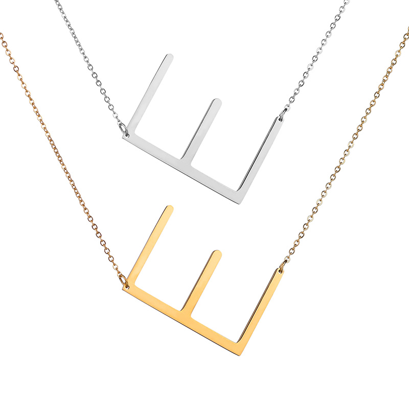 Ziime 2018 Silver Color Initial Letter Necklace Choker Women A-Z Shape Classic Alphabet Letter Necklaces Stainless Steel Jewelry