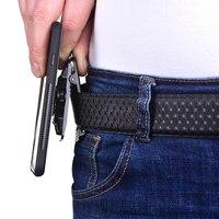 Cinturón multifunción Vertical antideslizante, bloqueo del soporte, Clip magnético para la cintura, hebilla exterior, soporte Universal ajustable para teléfono