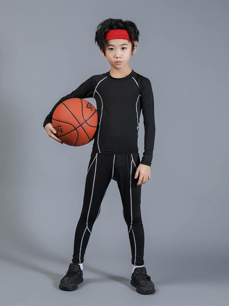 Children's Winter Sportswear Thermal Underwear Children's Sportswear Suits Children's Guards Burst Compression Sportswear Suit