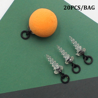 20 piezas accesorios de pesca de carpa usados con cuentas de gancho para el pelo de la pesca de la carpa Chod Ronny Rig Pop UP Boilies Stop tornillo Cajas de instrumentos de pesca     -