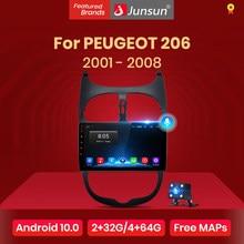 Junsun V1 Pro 2G 128G Android 10 Voor Peugeot 206 2001 - 2008 Auto Radio Multimedia Video speler Navigatie Gps 2 Din Dvd