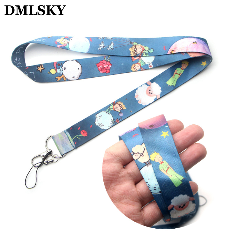 DMLSKY Little Fox And Prince Lanyard Keychain Lanyards For Keys Badge ID Mobile Phone Rope Neck Straps Accessories Gifts M3055