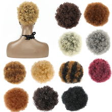 SHUOHAN Q9 Synthetic High Temperature Fiber Fluffy Curly Hair Bun Chignon Elastic Rubber Band Rope Piano Color [delice] 16 inches women s high temperature fiber synthetic hair curly ponytail piano color 90g piece
