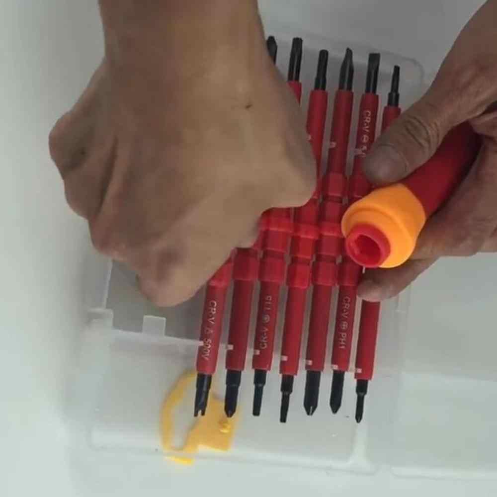 8 sztuk uniwersalny zestaw wkrętaków do elektrycznego zestawu izolowanego narzędzia do konserwacji gospodarstwa domowego