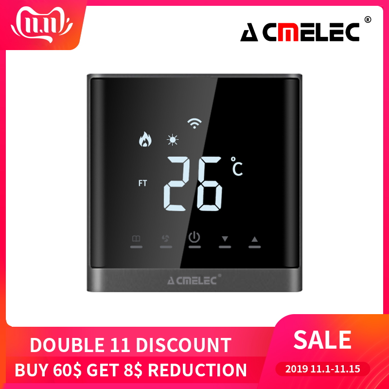 WIFI Thermostat Smart Thermostat Gas Boiler/Watre/Electric Floor Heat WIFI Controlled Thermostat Voice 16A/3A LED