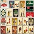 [YZFQ] чешского пива Винтаж знаки металлическая тарелки в стиле ретро для стен бар стойка для домашних пабов и современные кухни ресторана укр...