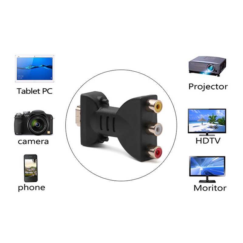 Oleh Sinyal Digital HDMI untuk 3 RCA Audio Adaptor Komponen Converter Video HDMI Splitter HDMI untuk VGA Konektor Kabel HDMI