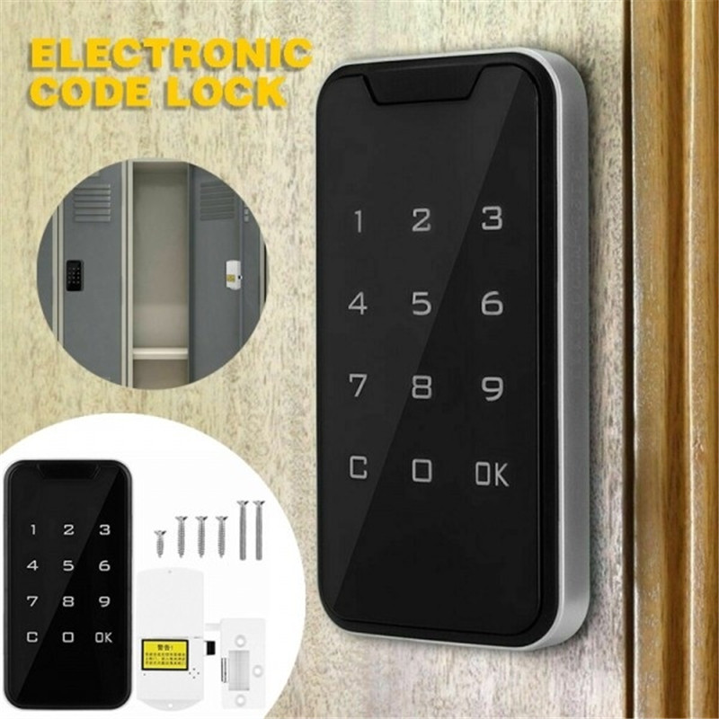 Smart Electronic Password Code Lock Touch Screen Electronic Digital Security Lock Keypad Drawer Office Digital Electronic Lock