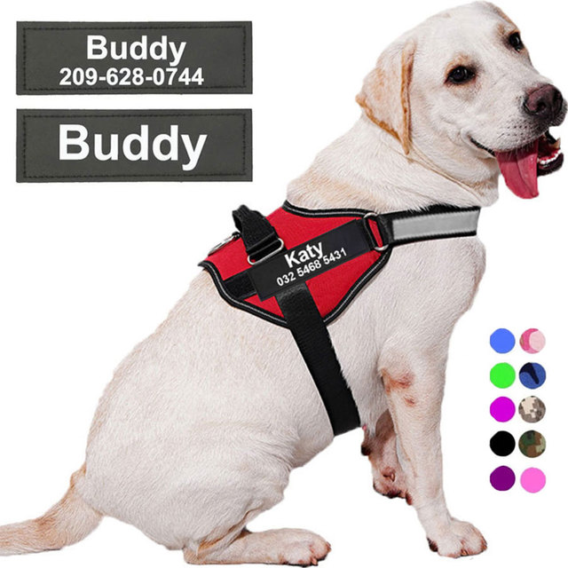 Dog Harness NO PULL Reflective Breathable Adjustable Pet Harness For Dog Vest ID Custom Patch Outdoor Walking Dog Supplies 1