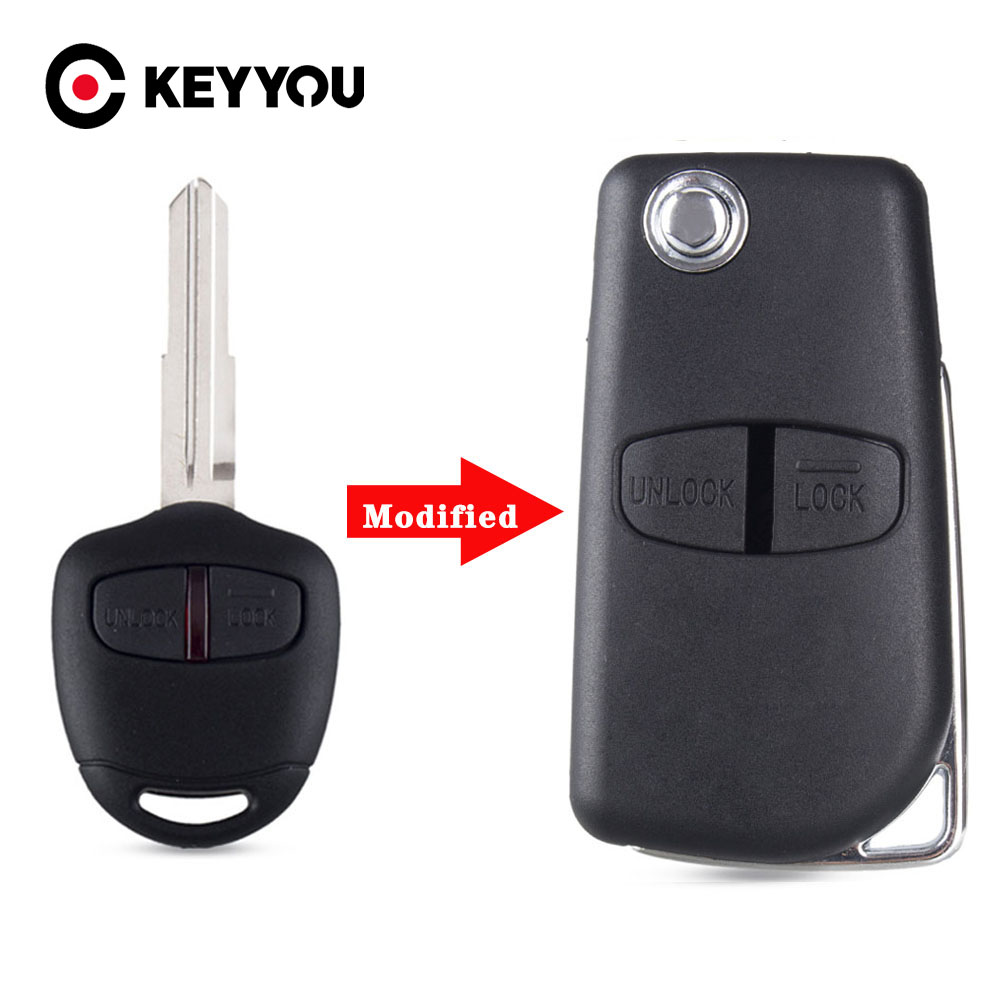 SEGADEN Replacement Key Shell fit for MITSUBISHI 2 Button Keyless Entry Remote Key Case Fob PG528A