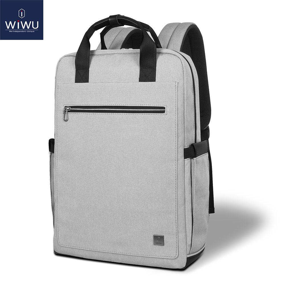 WIWU School Backpack Women Men Laptop Backpack 15.6 inch Waterproof Traveling Backpacks Laptop Bag for MacBook Pro 16 inch(China)