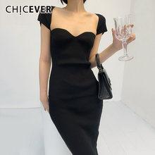 Женское облегающее платье chicever винтажное с квадратным воротником