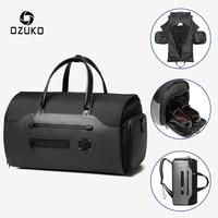 OZUKO Multifunktions Männer Anzug Lagerung Reisetasche Große Kapazität Gepäck Handtasche Männlichen Wasserdichte Reise Seesack Schuhe Tasche