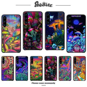 Trippy Mushroom Psychedelic phone case cover for huawei y7 2019 mate 10 20 lite 20 pro honor 9x pro Y9s silicone cases coque image