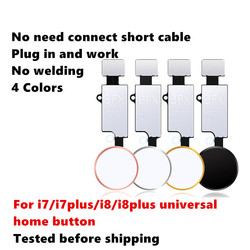 NIEUWE Universele Home Knop Voor iPhone 7 7 plus 8 8 plus Knop flex kabel Herstellen gewone Knop Vervanging terugkeer functies
