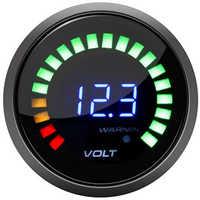 Car Digital Voltmeter 2 inch 52mm 12V Volt Gauge Meter 20 LED Black Volts Volt Meter voltimetro para auto motorcycle voltage