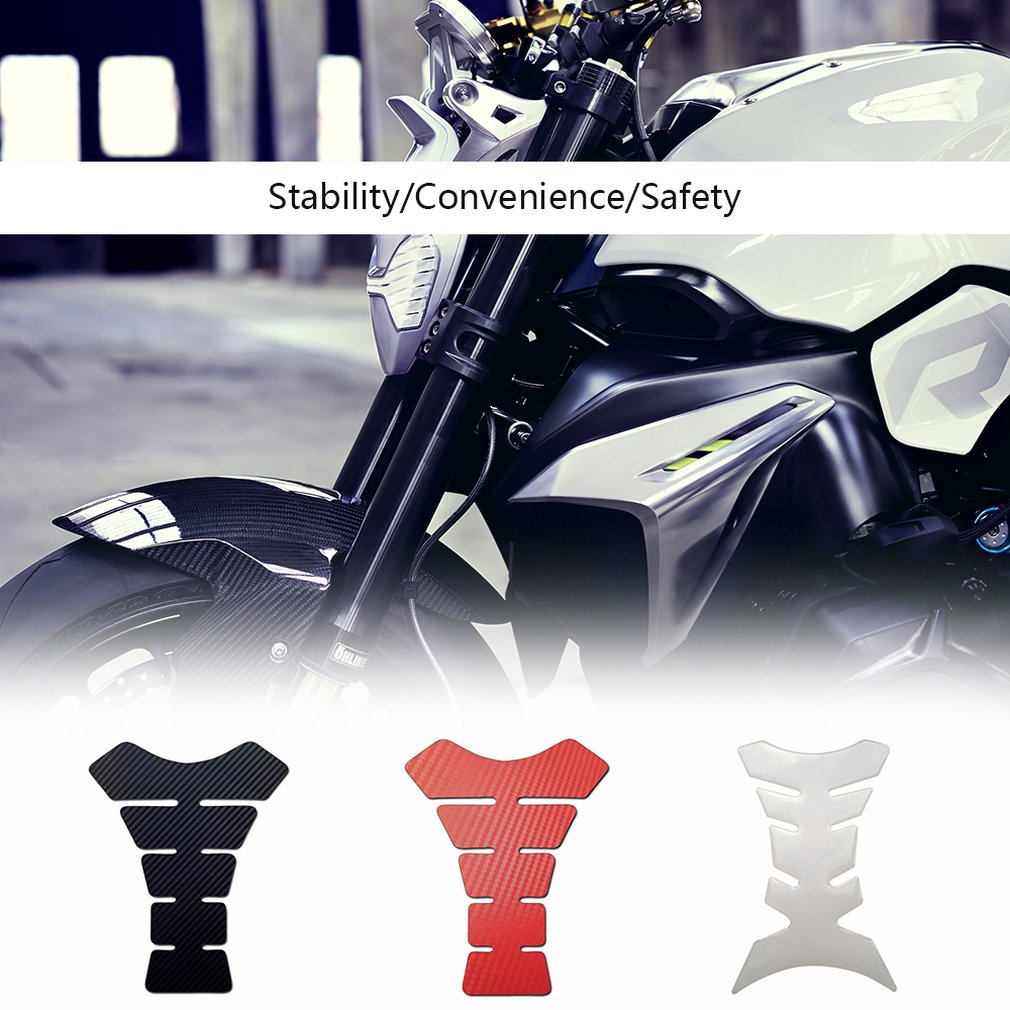 Logicstring Fashion Design Motorbike Tank Pad Protector Motorcycle Scratch Pad Carbon Fibre Effect Self Adhesive