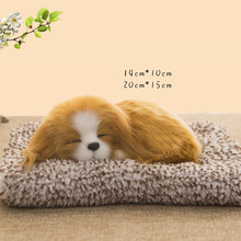 Car Interior Decoration Plush Simulation Cute Sleeping Dog Bling Automobile Home Accessories Gifts Doll