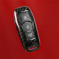 Carbon fiber smart remote key shell for Ford mondeo fusion Mustang 2018 accessories
