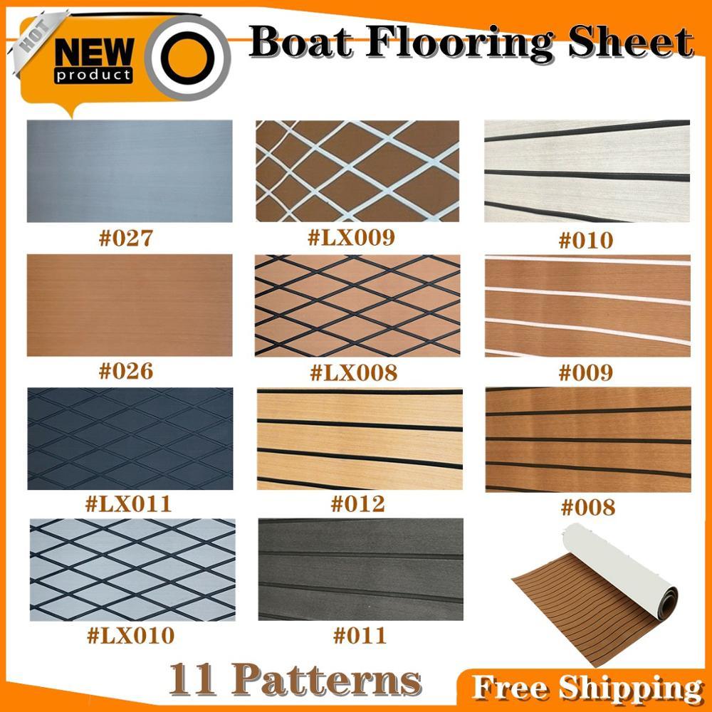 11 Patterns Self-Adhesive EVA Deluxe Marine Faux Boat Flooring Sheet For Teak Boat Decking Sheet Foam Boat Accessories Marine