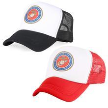 Mens Baseball Cap America Navy Seals Print Trucker Hat Women Black Red Breathable Cotton Mesh Visor Casual Winter Casquette