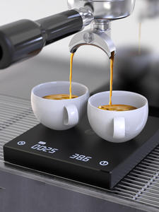 Coffee Scale Mirror Espresso TIMEMORE Rechargeable Smart Hand-Drip LED Black Timing BASIC