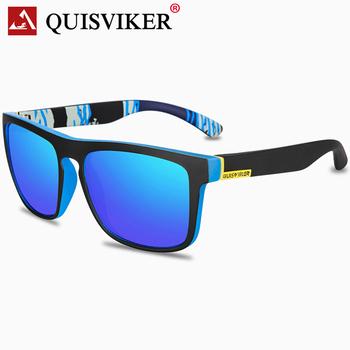 QUISVIKER marka 2019 nowy plac okulary mężczyźni polaryzacyjne okulary przeciwsłoneczne Retro Vintage gogle kobiety moda UV400 jazdy okulary tanie i dobre opinie Poliwęglan Spolaryzowane Antyrefleksyjną Dla dorosłych 55 mm 45 mm