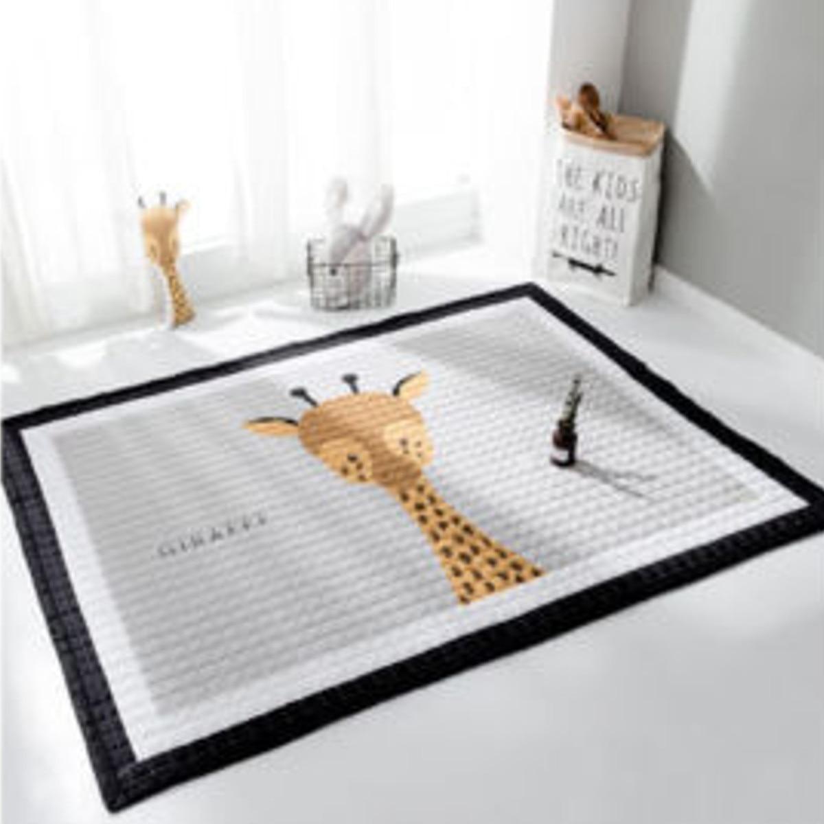 Us 50 7 21 Off Anti Slip Living Room Mat 15mm Thicken Baby Play Mat Game Rug Carpet Play Mat Toys Storage Organizer Cartoon Animal Large 195cm In